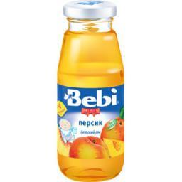 Сок Bebi Premuim Персик с мякотью с 4 мес, 170 мл, б/сах.