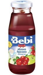 Сок Bebi Premuim Яблоко с брусникой с 6 мес, 170 мл, б/сах.