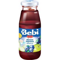 Сок Bebi Premuim Яблоко с черникой с 5 мес, 170 мл, б/сах.