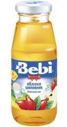 Сок Bebi Premuim Яблоко с шиповником с 6 мес, 170 мл, б/сах.