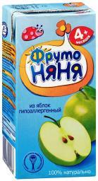 Сок Фрутоняня Яблоко осветленный гипоаллергенный с 4 мес, 200 мл, б/сах.