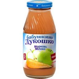 Нектар Бабушкино лукошко Морковь с яблоком с мякотью с 5 мес, 200 мл