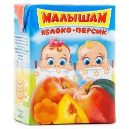 Нектар Фрутоняня Яблоко и персик с 5 мес, 200 мл