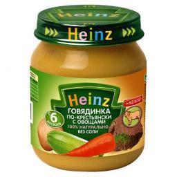 Пюре Heinz Говядинка по-крестьянски, с 6 мес, 120 г