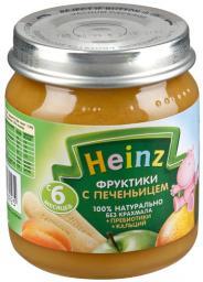 Пюре Heinz Фруктики с печеньицем с пребиотиками, с 6 мес, 120 г