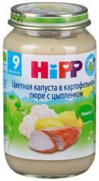 Пюре Hipp Цветная капуста в картофельном пюре с цыпленком, с 9 мес, 220 г