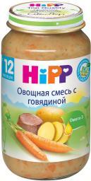 Пюре Hipp Овощная смесь с говядиной, с 12 мес, 220 г