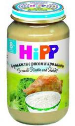 Пюре Hipp Брокколи с рисом и кроликом, с 8 мес, 220 г