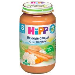 Пюре Hipp Нежные овощи с телятиной, с 8 мес, 220 г