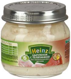 Пюре Heinz Цыпленок с телятинкой, с 6 мес, 80 г