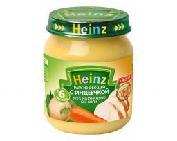 Пюре Heinz Рагу из овощей с индеечкой, с 6 мес, 120 г