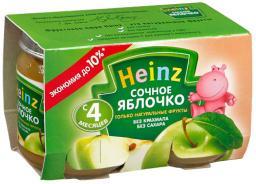 Пюре Heinz Сочное яблочко, с 4 мес, 120 г, 2 шт