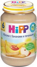 Пюре Hipp Яблоко с бананом и печеньем, с 6 мес, 190 г, б/сах.
