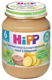 Пюре Hipp Цветная капуста в картофельном пюре с говядиной, с 6 мес, 125 г