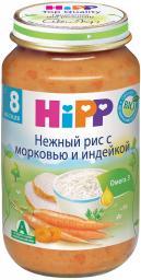 Пюре Hipp Нежный рис с морковью и индейкой, с 8 мес, 220 г 67946