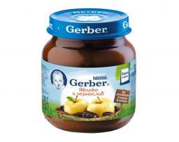 Пюре Gerber Яблоко с черносливом, с 5 мес, 130 г