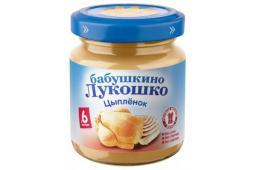 Пюре Бабушкино лукошко Цыпленок, с 6 мес, 100 г
