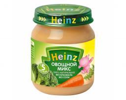 Пюре Heinz Овощной микс, с 5 мес, 120 г