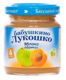 Пюре Бабушкино лукошко Яблоко с абрикосом, с 4 мес, 100 г