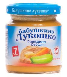 Пюре Бабушкино лукошко  Рагу овощное с говядиной с 6 мес, 100 г