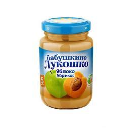 Пюре Бабушкино лукошко Яблоко с абрикосом, с 5 мес, 200 г