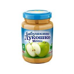 Пюре Бабушкино лукошко Яблоко, с 4 мес, 200 г, б/сах.