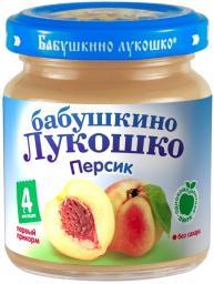 Пюре Бабушкино лукошко Персик, с 4 мес, 100 г, б/сах.