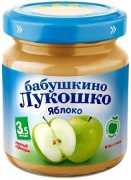 Пюре Бабушкино лукошко Яблоко, с 3.5 мес, 100 г, б/сах.