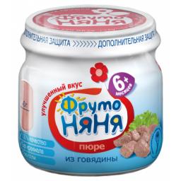 Пюре Фрутоняня Говядина, с 6 мес, 80 г