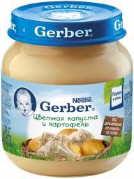 Пюре Gerber Цветная капуста и картофель, с 5 мес, 130 г