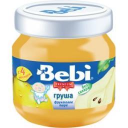 Пюре Bebi Premium Груша, с 4 мес, 100 г, б/сах.