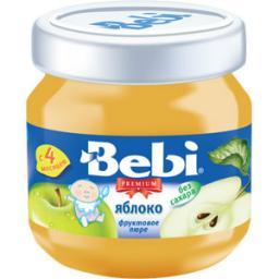 Пюре Bebi Premium Яблоко, с 4 мес, 100 г, б/сах.
