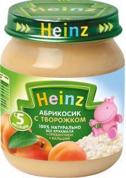 Пюре Heinz Творожок с абрикосиками, с 5 мес, 120 г