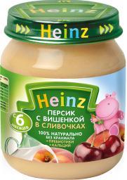 Пюре Heinz Персик, вишенка, сливочки, с 6 мес, 120 г