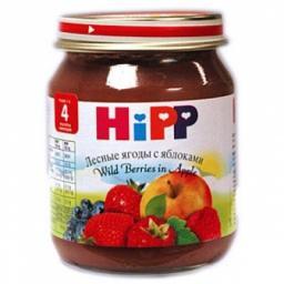 Пюре Hipp Лесные ягоды с яблоком, с 6 мес, 125 г
