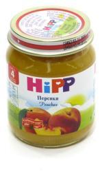 Пюре Hipp Персик, с 4 мес, 125 г, б/сах.