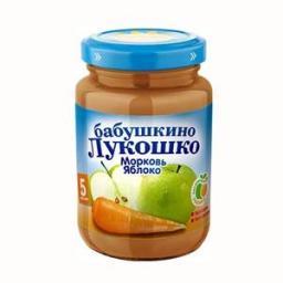 Пюре Бабушкино лукошко морковь с яблоком с 5 мес. 200 гр.