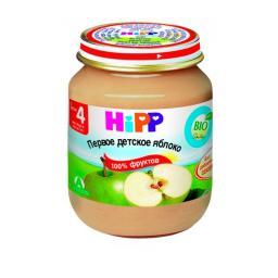 Пюре Hipp яблоко Мое первое пюре с 4 мес. 125 гр. б/сах.
