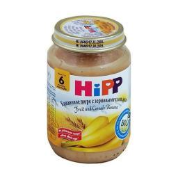 Пюре Hipp Банан с зерновыми хлопьями, с 6 мес, 190 г, б/сах.
