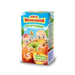 Пюре Фрутоняня Малышам Яблоко и персик, с 5 мес., 125 г