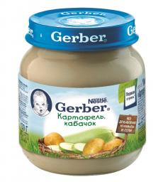 Пюре Gerber Картофель и кабачок, с 6 мес., 130 г