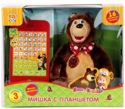 """Мягкая игрушка Мульти-Пульти """"Миша с планшетом"""" (м/ф """"Маша и медведь"""")"""