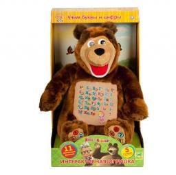 """Мягкая игрушка Мульти-Пульти """"Мишка. Учим буквы и цифры"""" (м/ф Маша и медведь)"""