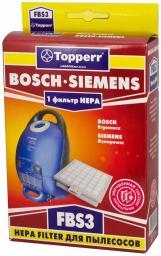 Фильтр Topperr 1110 FBS 3 HЕРА для пылесоса BOSCH Ergomaxx/SIEMENS Dynapower H12, 1 шт.в ед.