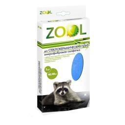 Микрофибровая салфетка для ухода за стеклокерамическими плитами Zool ZL-802