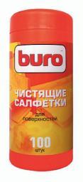 Чистящие салфетки Buro туба, для поверхностей, 100 шт