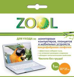 Микрофибровая салфетка Zool для ухода за экранами компьютеров и мобильных устройств Zool ZL-939