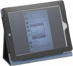 """Чехол Jet.A для New iPad 10"""" IC10-25N из натуральной кожи Черный/Синий интерьер"""