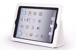 """Чехол Jet.A для New iPad  10"""" IC10-26N из натуральной кожи  Белый/Серый интерьер"""