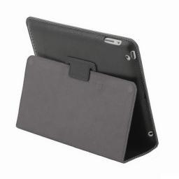 "Чехол Jet.A для New iPad  10"" IC10-26N из натуральной кожи  Черный/ Серый интерьер"